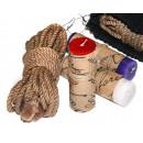 4 Jute Shibari Bondage Ropes & Wax Play Candle Kit for BDSM