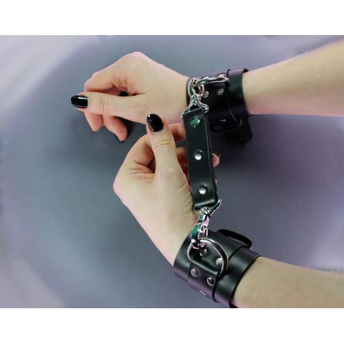 2 Point Leather Hog Tie for BDSM Bondage