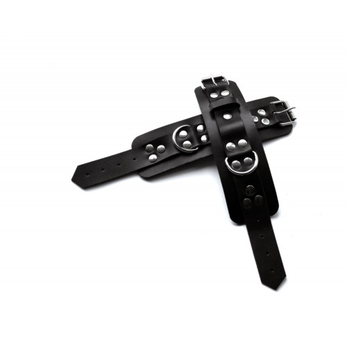Leather BDSM Handcuffs for Bondage