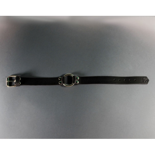 Black Leather Choker for BDSM Bondage