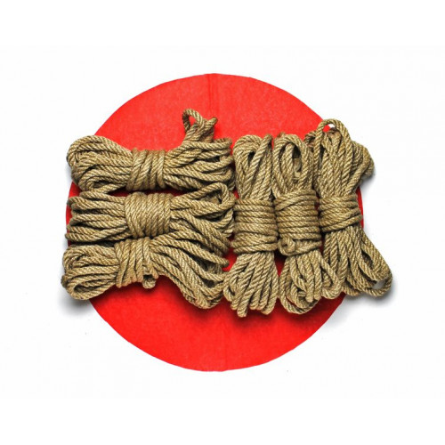 6x26ft Jute BDSM Shibari Bondage Rope Set