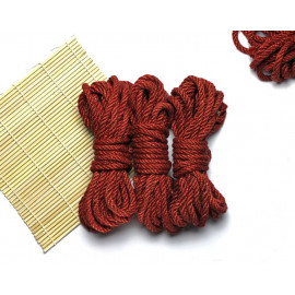 3x26ft Jute BDSM Shibari Bondage Rope Red