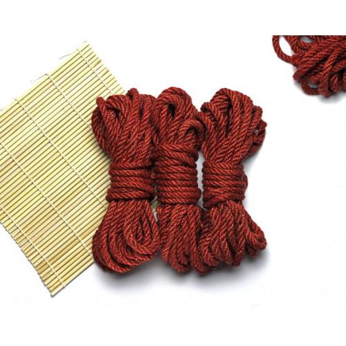 3x26ft Jute BDSM Shibari Bondage Rope Red