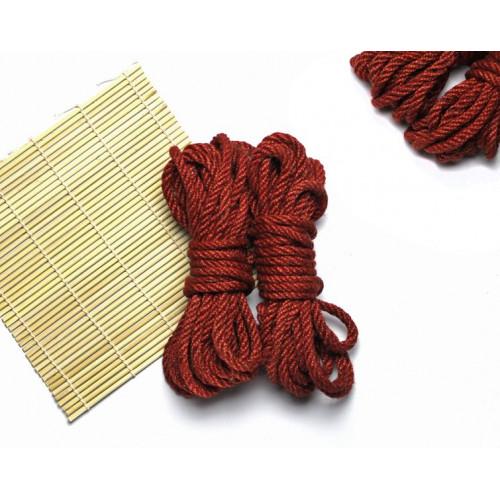 4x26ft Jute BDSM Shibari Bondage Rope Red