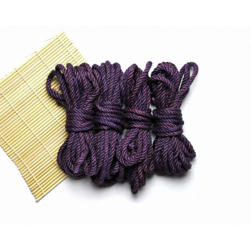 3x26ft Jute BDSM Shibari Bondage Rope Purple