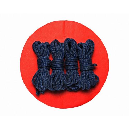 3x26ft Jute BDSM Shibari Bondage Rope Navy Blue