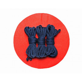 3x26ft Jute BDSM Shibari Bondage Rope Navy Blue