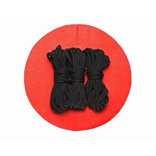 3x26ft Jute BDSM Shibari Bondage Rope Black