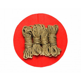 4x26ft Jute BDSM Kinbaku Rope Natural for Shibari Bondage