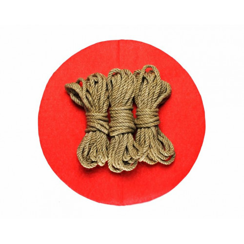 3x26ft Jute BDSM Kinbaku Rope Natural for Shibari