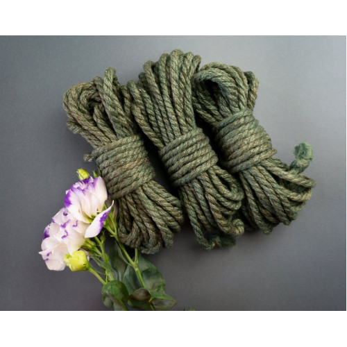 3x26ft Jute Rope Nature Green