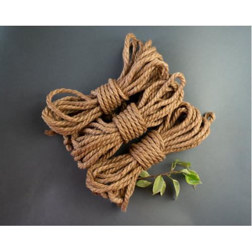 4x26ft Jute BDSM Kinbaku Rope Natural for Shibari Bondage