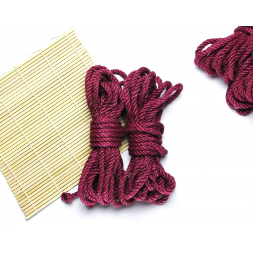 3x26ft Jute BDSM Shibari Bondage Rope Raspberry