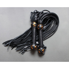 Leather Flogger and Cat of Nine Set
