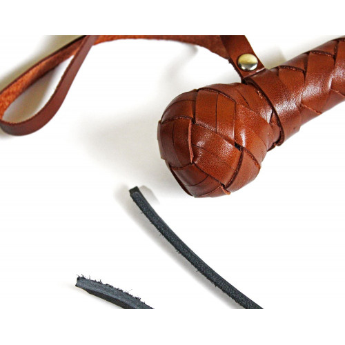 Leather BDSM Dog Whip