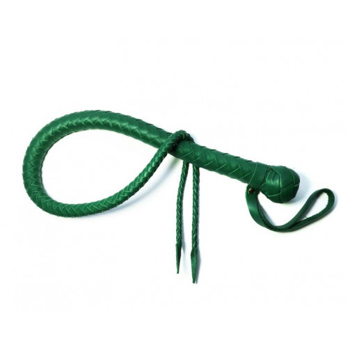 Split Tongue Leather Snake Whip for BDSM