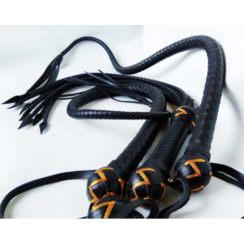 Premium Leather BDSM Whip Set