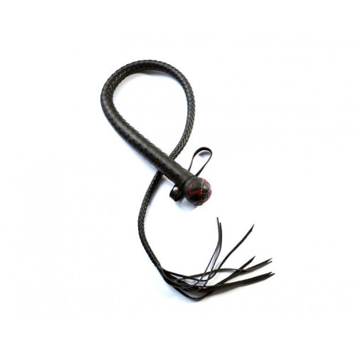 BDSM Whip with Tassel and Red Weaving