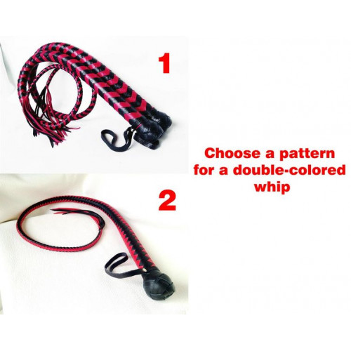 Double Colored BDSM Whip with Tassel