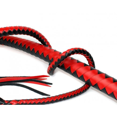 Leather Whip for BDSM (Double Colored)
