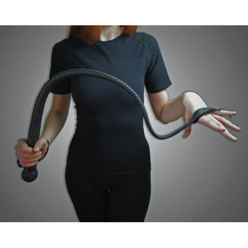 Black Leather BDSM Whip